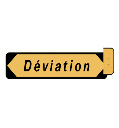 KD22a - Panneau de signalisation de déviation