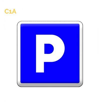 C1A panneau d'indication de stationnement gratuit